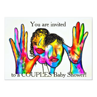 Invitation to a Couples Baby Shower in ASL