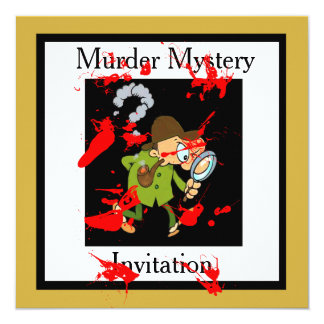 INVITATION TO A MURDER MYSTERY WEEK-END CARD