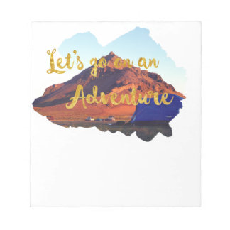 Invitation to adventure notepads