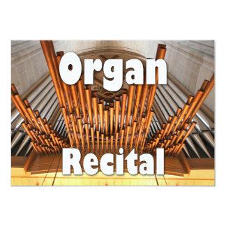 Invitation to an organ recital - Ulm pipes