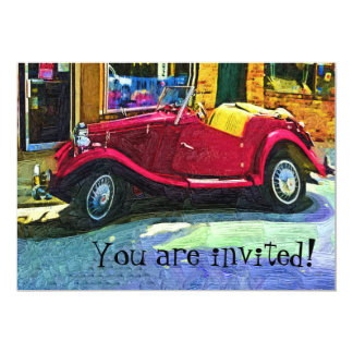 "Invitation to Celebration with Classic Car 5"" X 7"" Invitation Card"