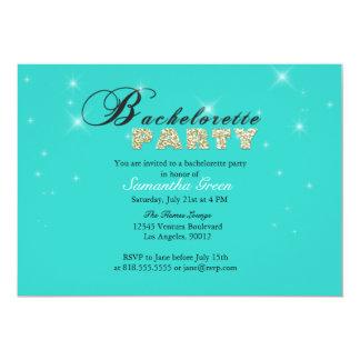 Invitation turquoise de partie de Bachelorette de