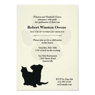 Invitation vétérinaire d'obtention du diplôme carton d'invitation  12,7 cm x 17,78 cm