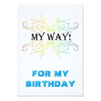 "INVITATION, WILL BE MY BIRTHDAY 5"" X 7"" INVITATION CARD"