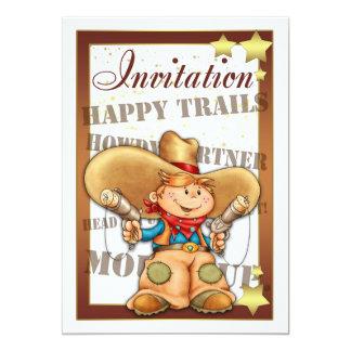 Invitation With Cowboy - Cowboy Invitation Happy