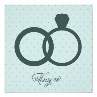 Invitation with engagement rings