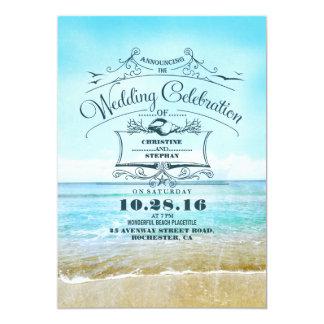 Invitations bleues de faire-part de mariage de