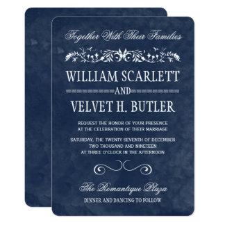 Invitations bleues de mariage d'aquarelle