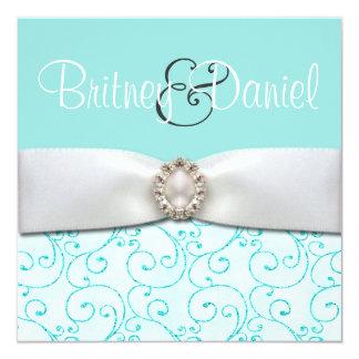 Invitations bleues de mariage de Tiffany Carton D'invitation 13,33 Cm