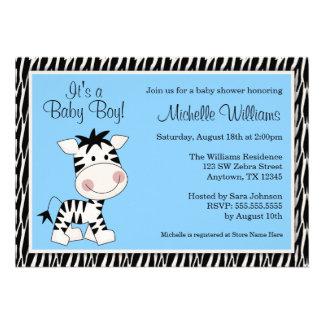 Invitations bleues mignonnes de baby shower de gar