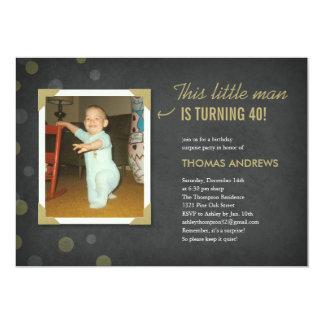 Invitations d'anniversaire de surprise de photo carton d'invitation  12,7 cm x 17,78 cm