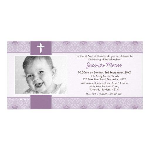 INVITATIONS DE BAPTÊME DE PHOTO : : joli 5L Carte Avec Photo