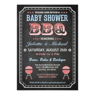Invitations de BBQ de baby shower (tableau)