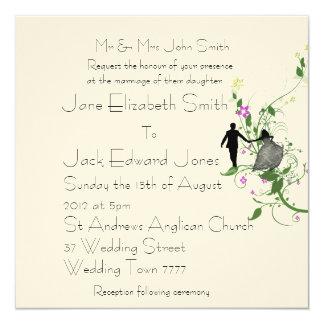 Invitations de coutume de jeunes mariés de mariage