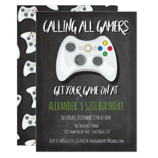 Invitations de fête d'anniversaire de jeu vidéo