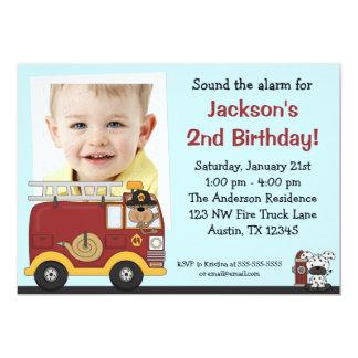 Invitations de fête d'anniversaire de photo de carton d'invitation  12,7 cm x 17,78 cm