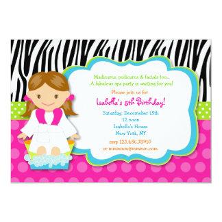 Invitations de fête d'anniversaire de spa