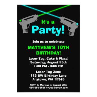 Invitations de fête d'anniversaire de vert bleu