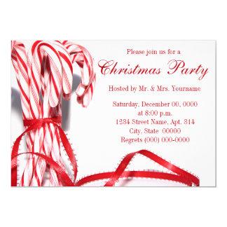Invitations de fête de Noël de sucres de canne