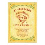 Invitations de fiesta - oui Mexicain vintage de Carton D'invitation 12,7 Cm X 17,78 Cm