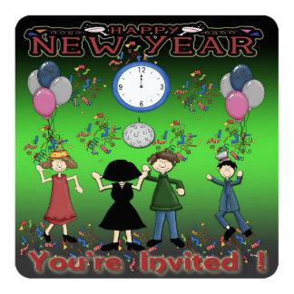 Invitations de la partie de nouvelle année de la