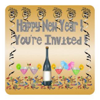 Invitations de la partie de nouvelle année des