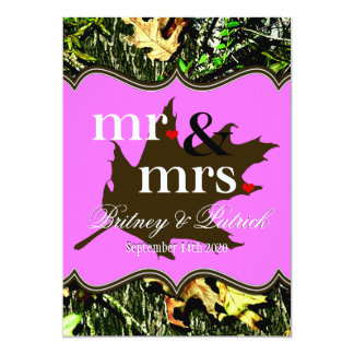 Invitations de M. et de Mme Hunting Camo Pink