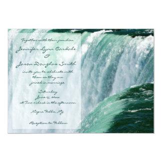 Invitations de mariage de cascade de chutes du carton d'invitation  12,7 cm x 17,78 cm