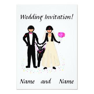 Invitations de mariage de cycliste carton d'invitation  12,7 cm x 17,78 cm