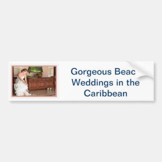 Invitations de mariage de destination autocollant de voiture