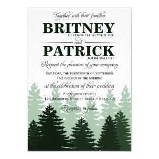 Invitations de mariage de forêt enchantées par