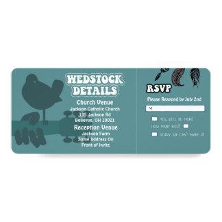 Invitations de mariage de Woodstock-Wedstock