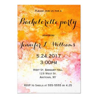 Invitations de partie de bachelorette d'aquarelle