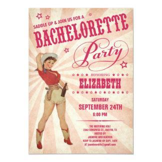 Invitations de partie de Bachelorette de cow-girl