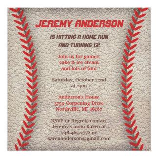 Invitations de partie de base-ball