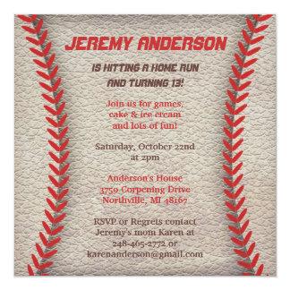 Invitations de partie de base-ball carton d'invitation  13,33 cm