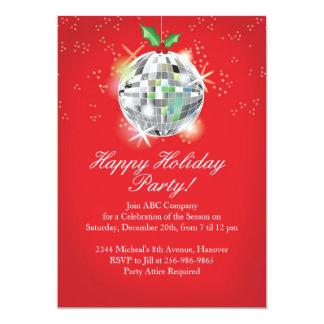 Invitations de partie de boule de disco de Noël