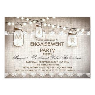 invitations de partie de fiançailles de pots de carton d'invitation  12,7 cm x 17,78 cm