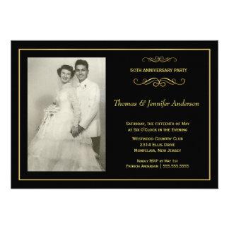 Invitations de photo d anniversaire de mariage - c