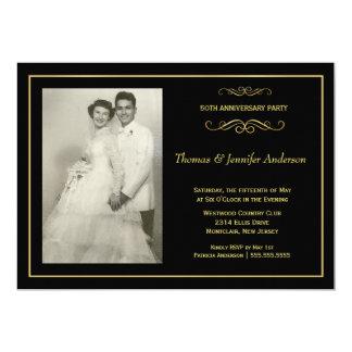 Invitations de photo d'anniversaire de mariage - carton d'invitation  12,7 cm x 17,78 cm