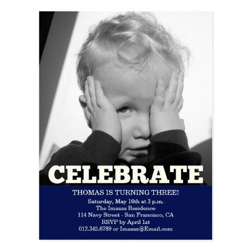 Invitations de photo de fête d'anniversaire de gar carte postale