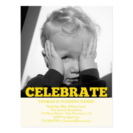 Invitations de photo de fête d'anniversaire de gar cartes postales