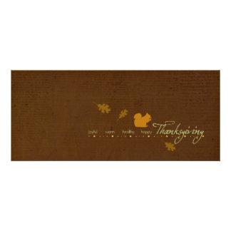 Invitations de thanksgiving d'écureuil