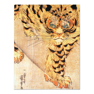Invitations de tigre de Kuniyoshi