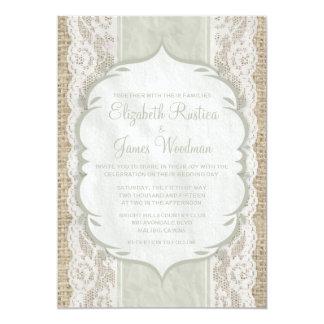 Invitations de toile vintages enes ivoire de carton d'invitation  12,7 cm x 17,78 cm
