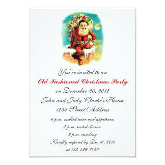 Invitations démodées de fête de Noël Carton D'invitation 12,7 Cm X 17,78 Cm