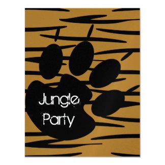 Invitations d'impression de tigre carton d'invitation 10,79 cm x 13,97 cm