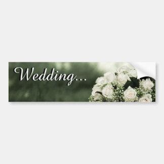 Invitations élégantes de mariage autocollants pour voiture