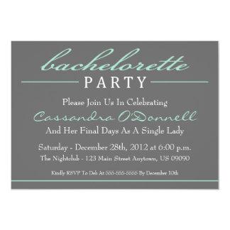 Invitations élégantes de partie de Bachelorette Carton D'invitation 12,7 Cm X 17,78 Cm