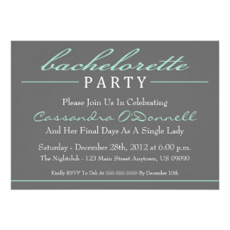 Invitations élégantes de partie de Bachelorette v
